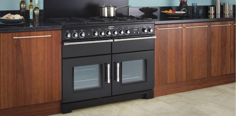 Kuchnia gazowa FALCON EXL 110 DF czarny  GOTOWANIE  Kuchnie wolnostojące KU   -> Kuchnia Gazowa Przemyslowa